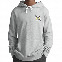 RVCA MONSTER HOOD HEATHER GREY