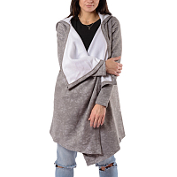EMBLEM COAT-CARDIGAN WARM GREY