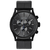 Nixon SENTRY CHRONO LEATHER BLACK GATOR