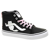 Vans UY SK8-HI ZIP (HIDDEN KITTENS) BLACK/TRUE WHITE