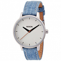 Nixon Kensington Leather WASHED DENIM/CREAM