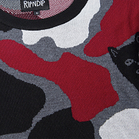 RIPNDIP NERMCAMO KNIT SWEATER RED CAMO