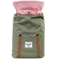 Herschel RETREAT Deep Lichen Green/Tan Synthetic Leather