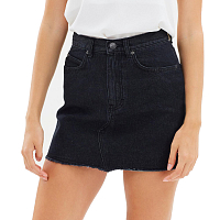 Rusty STRANGER DENIM SKIRT ACES BLACK