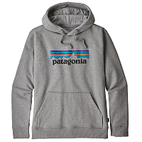 Patagonia M'S P-6 LOGO UPRISAL HOODY SEDIMENT Gravel Heather