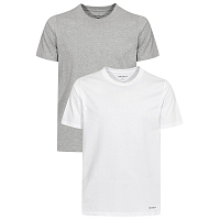 Carhartt WIP STANDARD CREW NECK T-SHIRT WHITE + GREY HEATHER