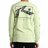 Rusty SPLAT TV LONG SLEEVE TEE ACID LIME