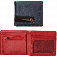 Nixon Showdown Bi-Fold Zip Wallet Navy/Woodland