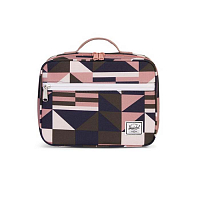 Herschel POP QUIZ LUNCHBOX Frontier Geo/Ash Rose