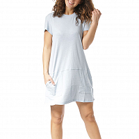 Rusty BARE TEE DRESS Blue Fog