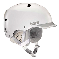 Bern LENOX WOMEN'S Satin White/Grey Trim/Grey Liner