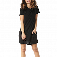 Rusty BARE TEE DRESS BLACK