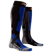 X-Socks XS SKI ALPIN SILVER Black/Cobalt Blue