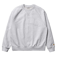 Carhartt WIP W' CHASE SWEATSHIRT ASH HEATHER / GOLD