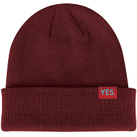 Yes KNIT BEANIE BACKSIDE RED