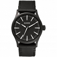 Nixon SENTRY 38 LEATHER BLACK/WHITE