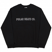 POLAR OUTLINE CREWNECK BLACK