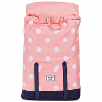 Herschel RETREAT YOUTH Peach Polka Dot/Peacoat