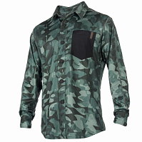 Mystic SHRED BLOUSE QUICKDRY L/S GREEN ALLOVER