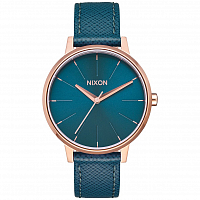 Nixon Kensington Leather ROSE GOLD / TEAL