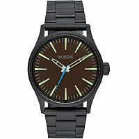 Nixon SENTRY 38 SS ALL BLACK/BROWN