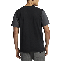 Hurley M DF HARVEY BLOCKED SS ANTHRACITE