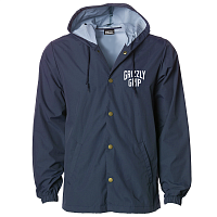 Grizzly ALL CITY HOODED COACHES JACKET NAVY