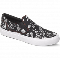 DC TRASE SLIP-ON S M SHOE BLACK/RED PRINT