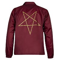 Thrasher PENTAGRAM COACH JACKET MAROON