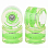 SUNSET SKATEBOARDS LONG BOARD WHEEL WITH ABEC9 GREEN