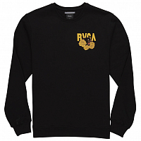 RVCA PANTHER N ROSES CREW BLACK