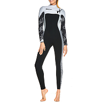 Glidesoul FULL WETSUIT 5/4 MM CHEST ZIP BLACK/GS74/WHITE/GREY