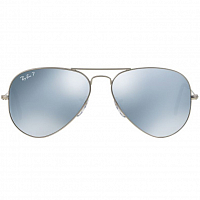 Ray Ban Aviator Large Metal MATTE SILVER/LIGHT GREY GRADIENT DARK GREY