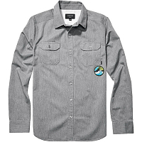 Nixon SALINAS L/S SHIRT Heather Gray