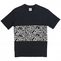 Element KH BIG PANEL SS KNIT FLINT BLACK
