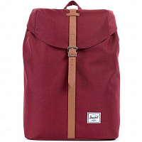 Herschel POST MID-VOLUME WINDSOR WINE/TAN SYNTHETIC LEATHER
