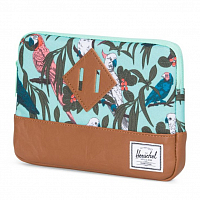 Herschel HERITAGE SLEEVE FOR IPAD MINI Lucite Green Parlour/Tan Synthetic Leather