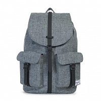 Herschel DAWSON RAVEN CROSSHATCH/BLACK PEBBLED LEATHER