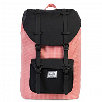 Herschel Little America Mid-Volume Strawberry Ice Grid/Black/Black Rubber