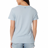 Rusty BARE CREW NECK SHORT SLEEVE TEE Blue Fog