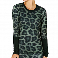 686 BLISS BASELAYER TOP LEOPARD CLRBLK