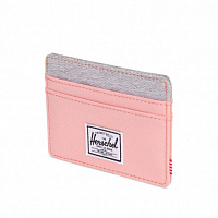Herschel CHARLIE RFID Peach/Light Grey Crosshatch