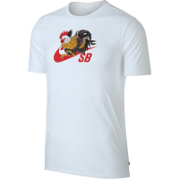 Nike M NK SB DRY TEE ROOSTER WHITE