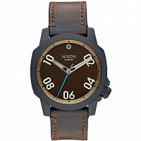Nixon RANGER 40 LEATHER ALL BLACK/BRASS/BROWN