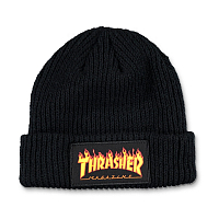 THRASHER FLAME LOGO BEANIE BLACK