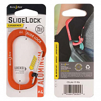 Nite Ize CARABINER SLIDELOCK ALUMINUM 4 ORANGE