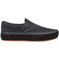 Vans CLASSIC SLIP-ON PLATFORM (SUEDE OUTSOLE) ASPHALT/LICORICE