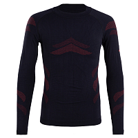 BodyDry LHOTSE LONG SLEEVE SHIRT BLACK/RED