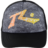 Rusty SPLAT TV TRUCKER CAP Stone Gray