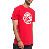 DC CIRCLE STAR SS M TEES TANGO RED